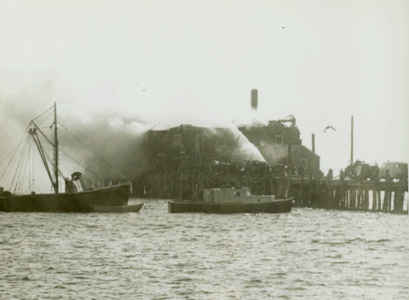 Sklaroff Wharf  Fire-  Vessels Liberty & Little Infant