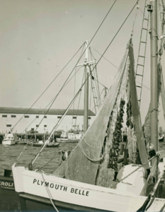 Sklaroff Wharf with Ship Plymouth Belle