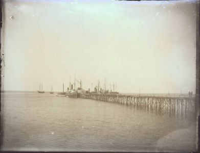 Steambooat Wharf with Pogy Boats