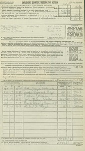 National Trap Inc. 1955 Employer's Quarterly Federal Tax Return