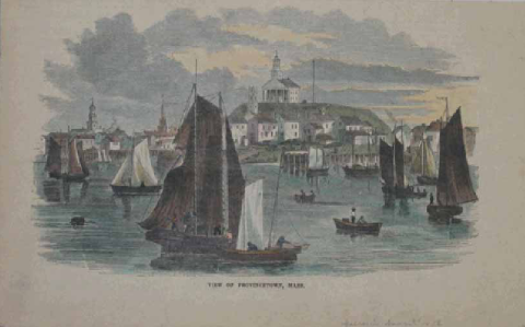 """A View of Provincetown, Mass."" Unknown artist"