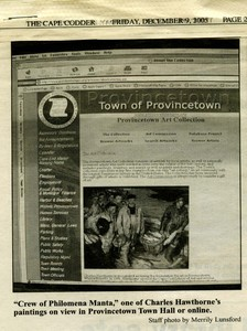 Town Art Collection Goes Online, 2005 article