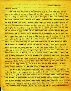 Letters to Mr.& Mrs. Bultman, Jr. from Jeanne & Fritz (August 17, 1945)