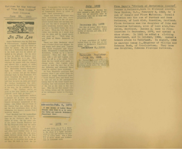 Scrapbooks of Althea Boxell (1/19/1910 - 10/4/1988), Book 4, Page 79