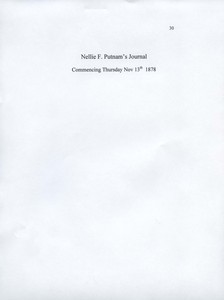 Nellie F. Putnam Journal