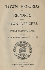 Annual Town Report - 1912