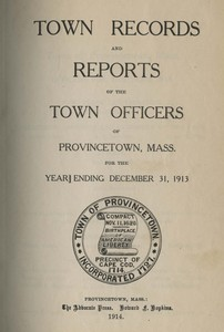 Annual Town Report - 1913