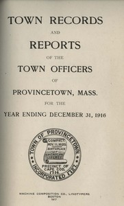 Annual Town Report - 1916