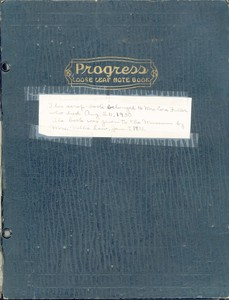 Cora Fuller Scrapbook, prior to 1930