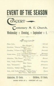 Event of the Season Concert (September 1, 1887)