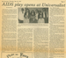 """AIDS Play Opens at Univeralist"" Provincetown Advocate 1987"