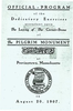 Official Program of the Laying of the Cornerstone for the Pilgrim Monument
