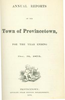 Annual Town Report - 1875
