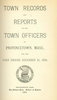 Annual Town Report - 1899