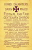 Dairy Maids' Festival and Fair (February 26, 1891)